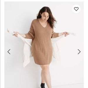 Madewell Relaxed V-Neck Sweater Dress XS